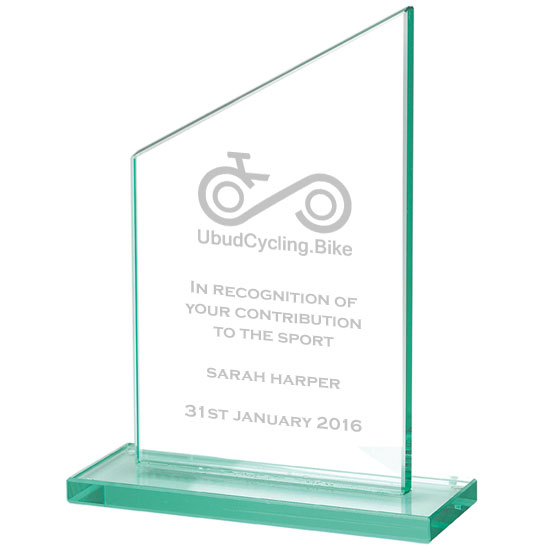 Jade Glass Cycling Trophy