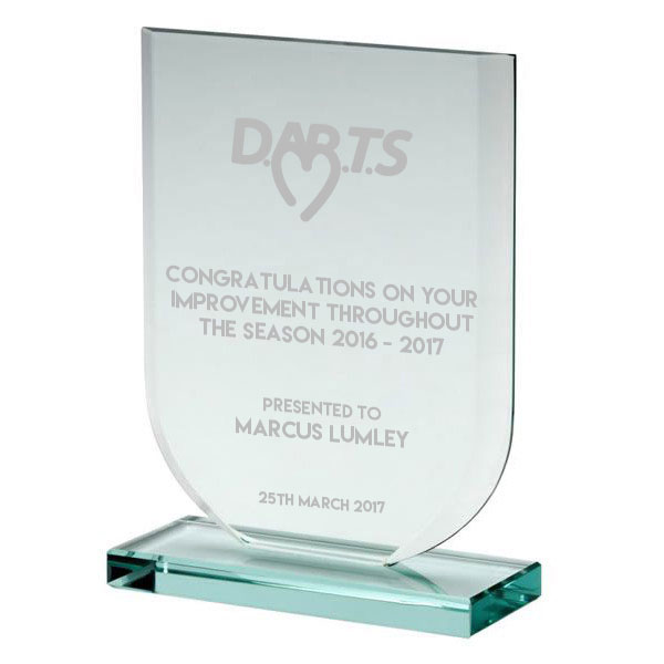 Jade Glass Darts Trophy