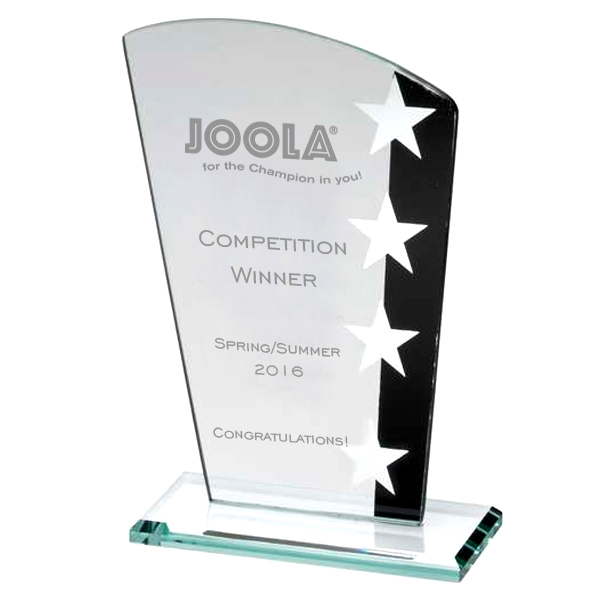 Jade Glass Star Table Tennis Trophy