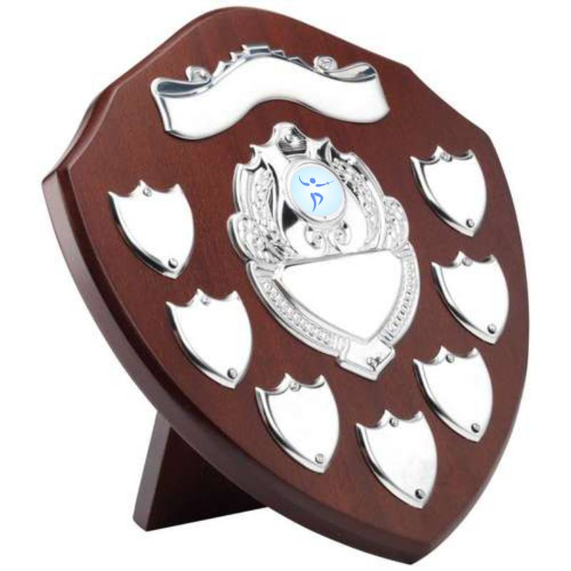 Annual award shield for fencing with space for perpetual engraving
