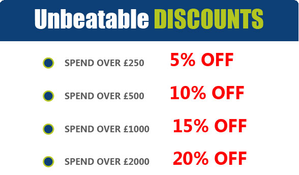 Allsportsawards Unbeatable Discount! Spend over £250 for 5% off! Over £2000 for 20% off!