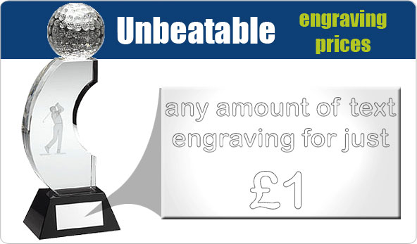 Unbeatable engraving prices - Any amount of text for just £1!