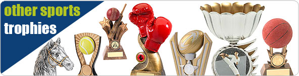 Other Sports trophies; boxing, equestrian, martial arts, tennis